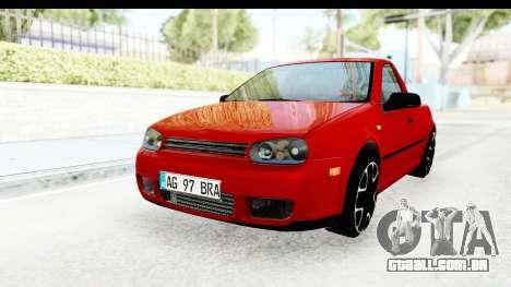 Volkswagen Golf Mk4 Pickup para GTA San Andreas