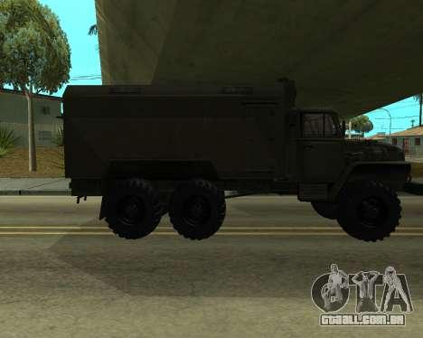 Ural 4320 Armenian para GTA San Andreas vista traseira