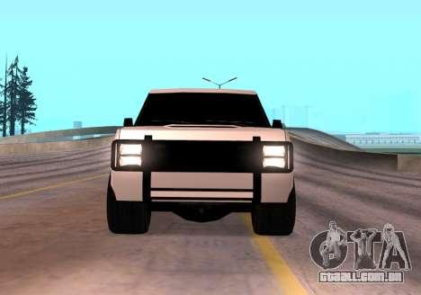 Huntley Rover para GTA San Andreas vista direita