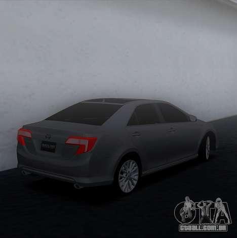 Toyota Camry 2013 USA para GTA San Andreas esquerda vista