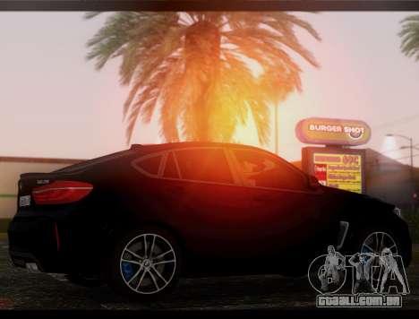 BMW X6M BULKIN SAMP EDITION para GTA San Andreas traseira esquerda vista
