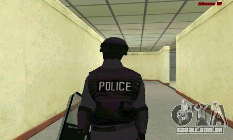 Pele SWAT GTA 5 para GTA San Andreas sexta tela