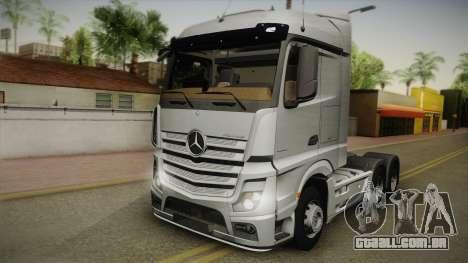 Mercedes-Benz Actros Mp4 6x4 v2.0 Steamspace v2 para GTA San Andreas