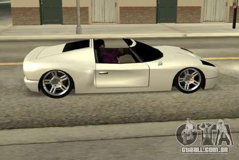 Bullet Spyder para GTA San Andreas esquerda vista