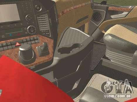 Mercedes-Benz Actros Mp4 6x4 v2.0 Steamspace v2 para GTA San Andreas vista superior