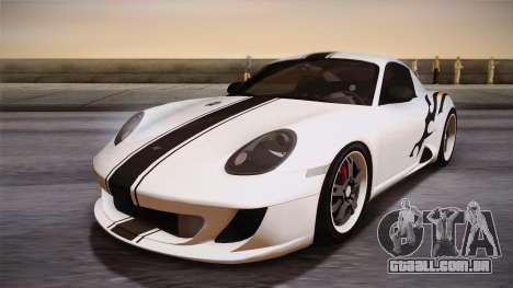 Ruf RK Coupe (987) 2007 IVF para GTA San Andreas vista inferior