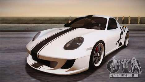 Ruf RK Coupe (987) 2007 HQLM para GTA San Andreas vista traseira