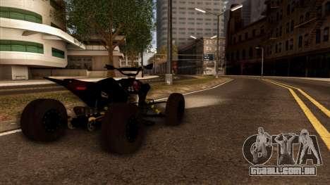 Quad Graphics Skull para GTA San Andreas esquerda vista