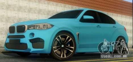 BMW X6M F86 para GTA San Andreas vista traseira
