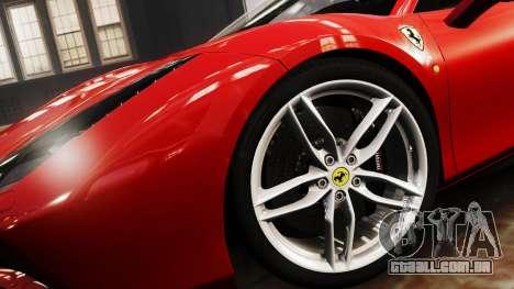 Ferrari 488 GTB 2016 para GTA 4 traseira esquerda vista
