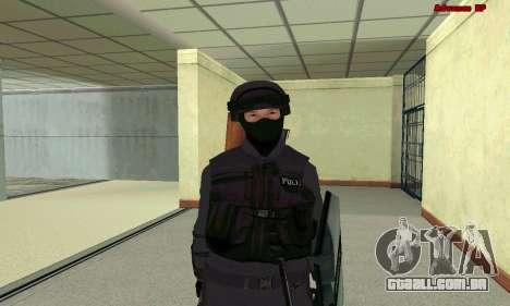 Pele SWAT GTA 5 para GTA San Andreas sétima tela