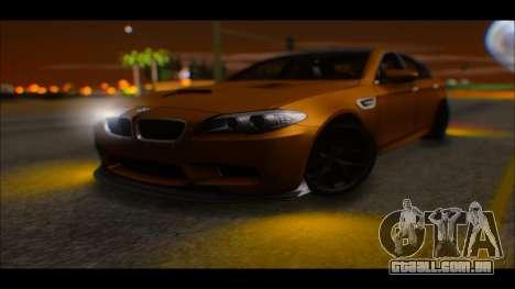 BMW M5 F10 2014 para GTA San Andreas vista direita