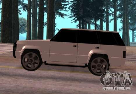 Huntley Rover para GTA San Andreas esquerda vista