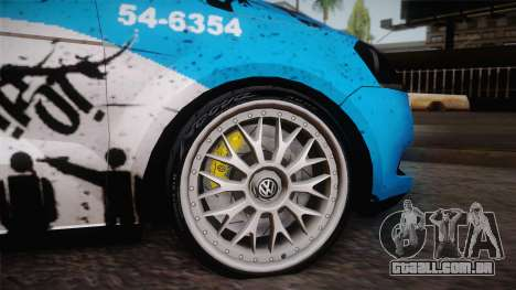Volkswagen Voyage G6 Pmerj Graffiti para GTA San Andreas vista direita