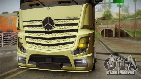 Mercedes-Benz Actros Mp4 6x4 v2.0 Steamspace para GTA San Andreas vista direita