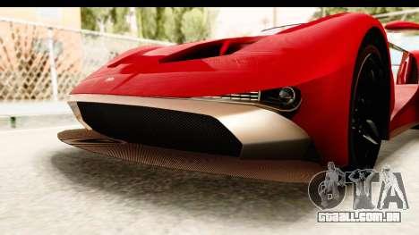 GTA 5 Vapid FMJ IVF para GTA San Andreas vista inferior