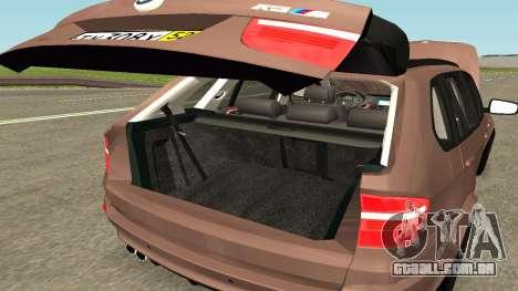 BMW X5M para GTA San Andreas vista superior