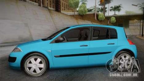 Renault Megane 2 Hatchback v2 para GTA San Andreas traseira esquerda vista