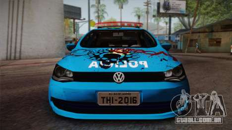 Volkswagen Voyage G6 Pmerj Graffiti para GTA San Andreas traseira esquerda vista