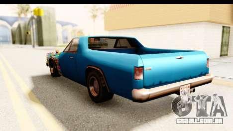 Picador Sticker Bomb para GTA San Andreas traseira esquerda vista