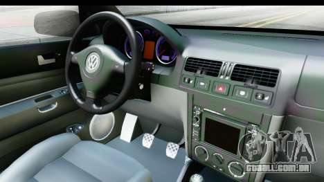 Volkswagen Golf Mk4 Pickup para GTA San Andreas vista interior