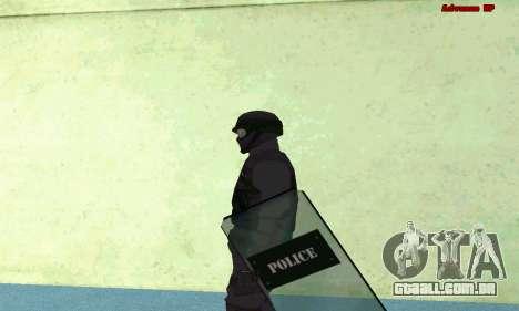Pele SWAT GTA 5 (PS3) para GTA San Andreas terceira tela