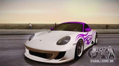 Ruf RK Coupe (987) 2007 HQLM para GTA San Andreas vista interior