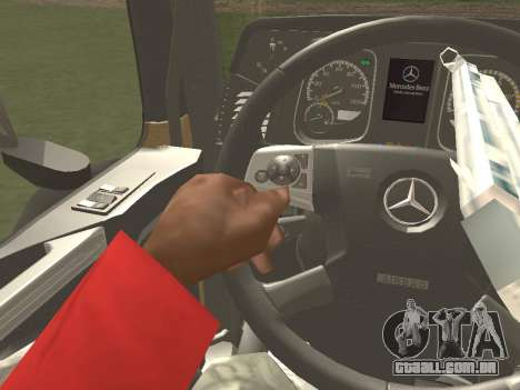 Mercedes-Benz Actros Mp4 4x2 v2.0 Steamspace para GTA San Andreas vista interior