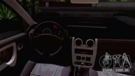 Dacia Logan Prestige 1.6L 16V para GTA San Andreas vista traseira