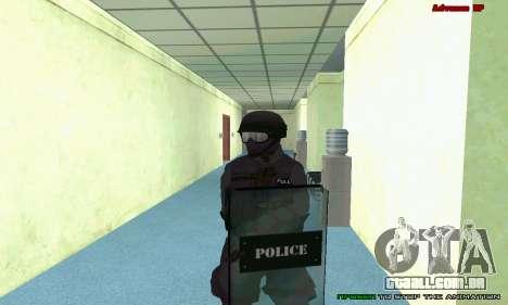 Pele SWAT GTA 5 (PS3) para GTA San Andreas décimo tela