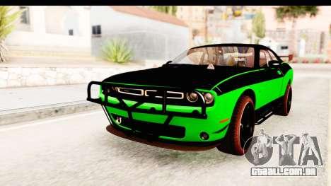Dodge Challenger F&F 7 para GTA San Andreas traseira esquerda vista