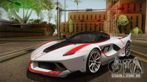 Ferrari FXX-K 2015 para GTA San Andreas vista interior