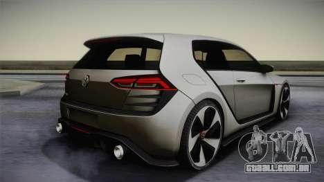 Volkswagen Golf Design Vision GTI para GTA San Andreas esquerda vista