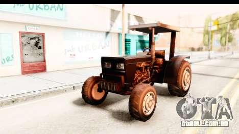 Modern Tractor para GTA San Andreas traseira esquerda vista