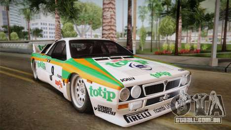 Lancia Rally 037 Stradale (SE037) 1982 Dirt PJ2 para GTA San Andreas traseira esquerda vista