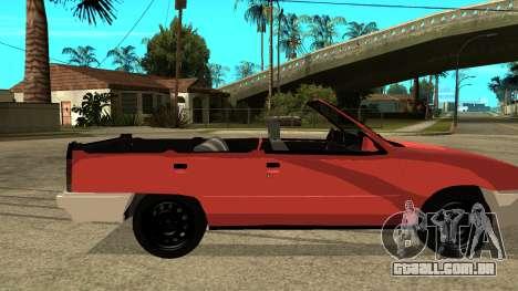 Opel Kadett AcademeG edition para GTA San Andreas traseira esquerda vista