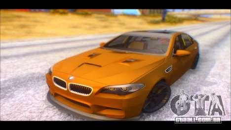 BMW M5 F10 2014 para GTA San Andreas traseira esquerda vista