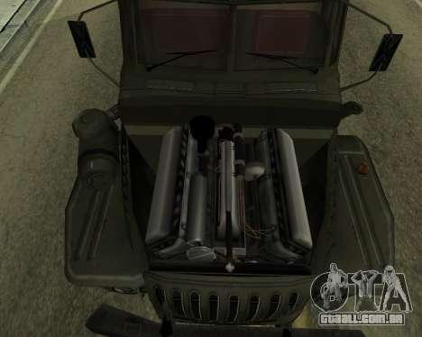 Ural 4320 Armenian para GTA San Andreas vista interior