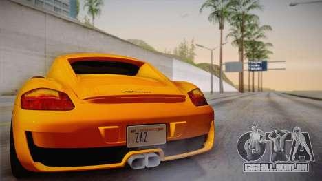 Ruf RK Coupe (987) 2007 IVF para GTA San Andreas vista superior