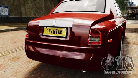 Rolls-Royce Phantom LWB V2.0 para GTA 4 vista de volta