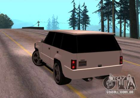Huntley Rover para GTA San Andreas traseira esquerda vista