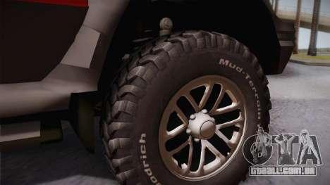 Mitsubishi Pajero 3-Door para GTA San Andreas traseira esquerda vista