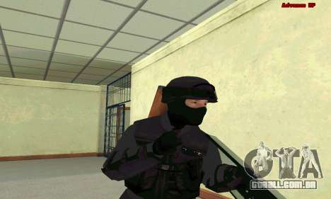 Pele SWAT GTA 5 para GTA San Andreas por diante tela