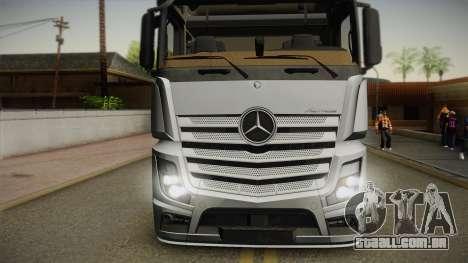 Mercedes-Benz Actros Mp4 6x4 v2.0 Steamspace v2 para GTA San Andreas traseira esquerda vista