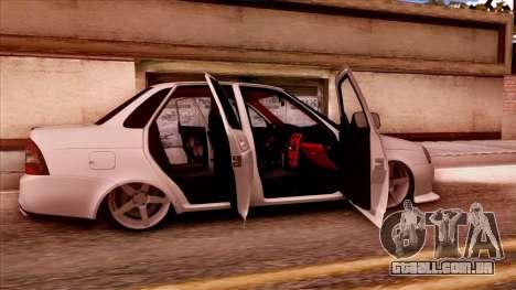 Lada Priora Autozvuk v.2 para GTA San Andreas vista direita