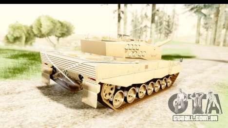 Leopard 2A4 para GTA San Andreas esquerda vista