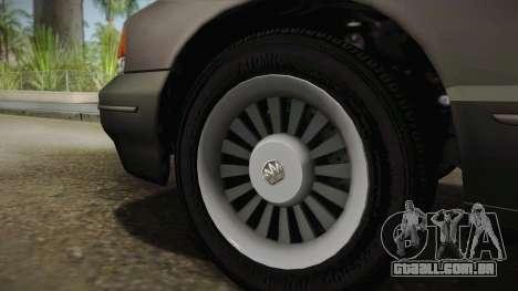 Willard Elegant SA Style para GTA San Andreas vista traseira