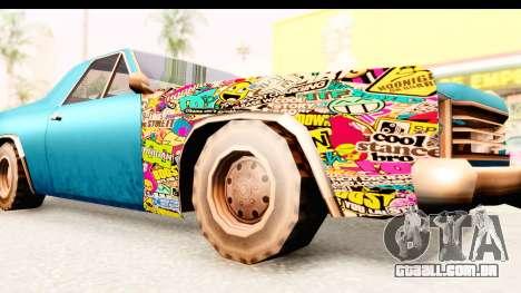 Picador Sticker Bomb para GTA San Andreas vista traseira
