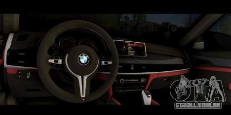 BMW X6M F86 para GTA San Andreas vista direita