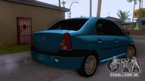 Dacia Logan Prestige 1.6L 16V para GTA San Andreas traseira esquerda vista